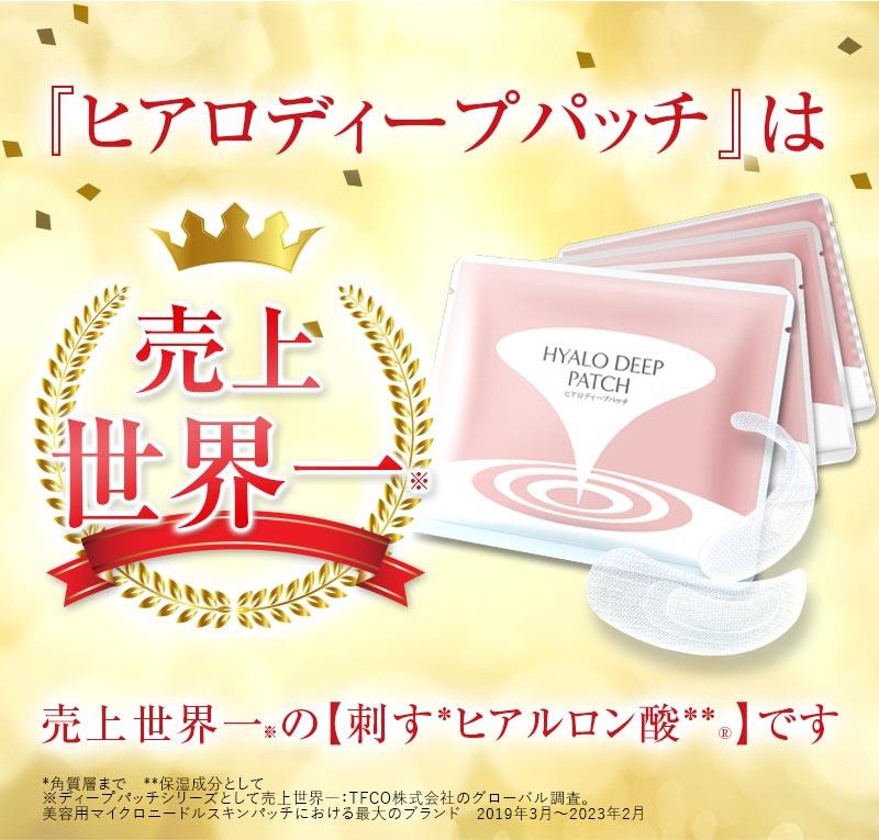 『ヒアロディープパッチ』は売上日本一の【刺すヒアルロン酸】です